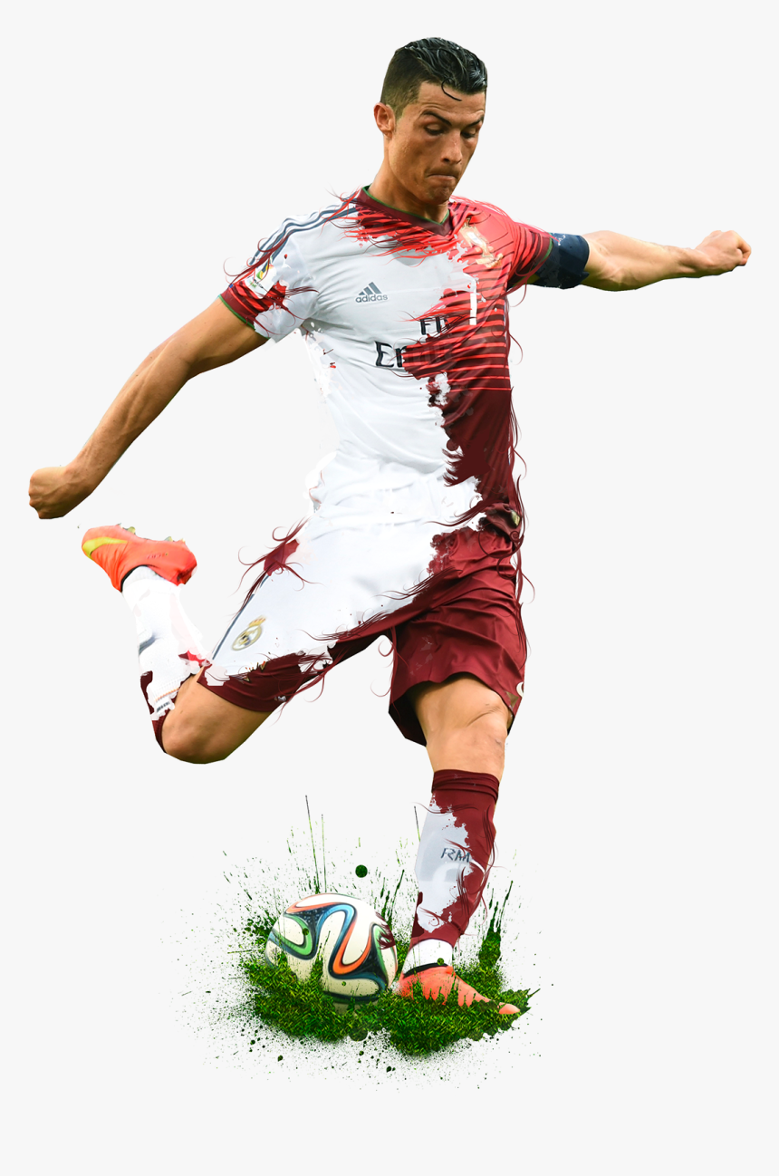 Clip Art Free Library Cr7 Drawing Rooney - World Cup Football Player Png, Transparent Png, Free Download