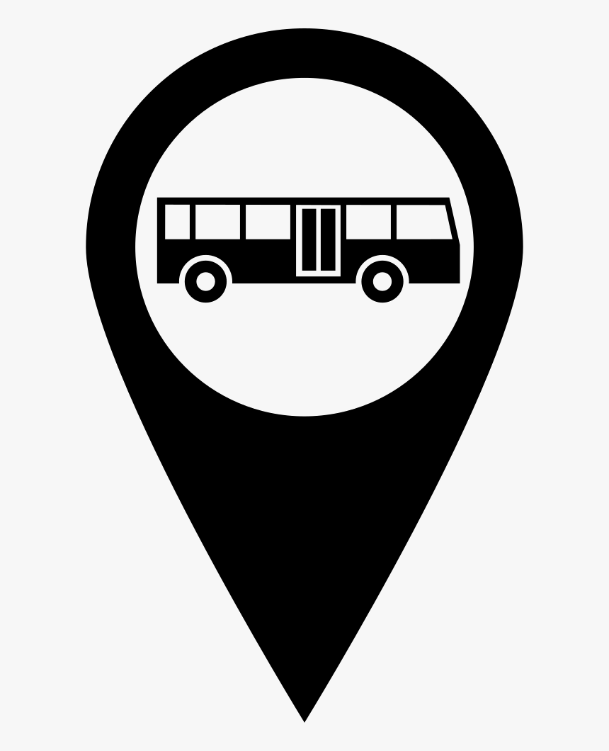 Bus Stop Pin - Bus Stop Symbol Png, Transparent Png, Free Download