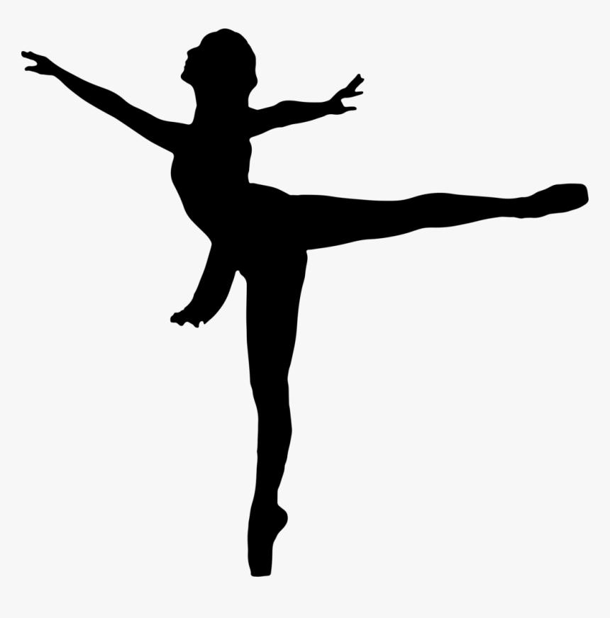 Ballet Dancer Silhouette Clip Art - Black Dancer Silhouette Png, Transparent Png, Free Download
