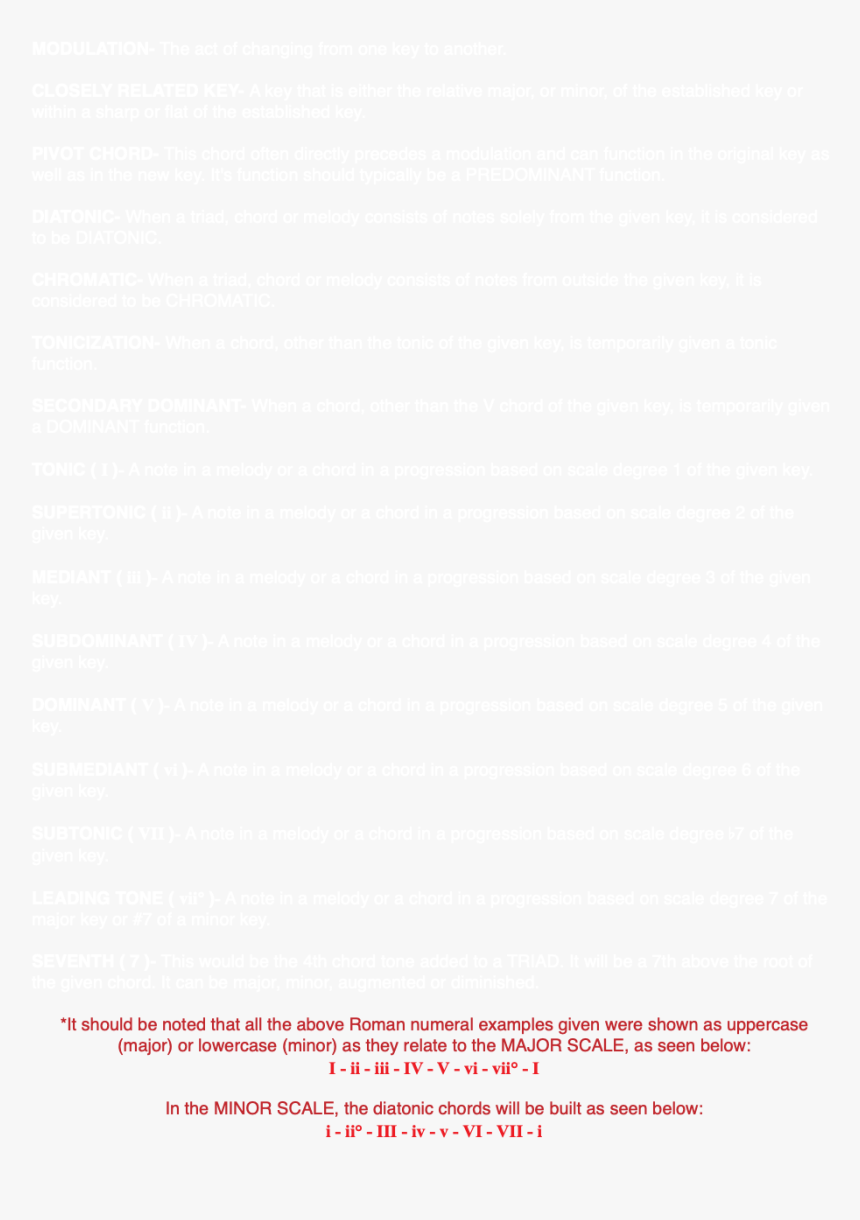 Modulation The Act Of Changing From One Key To Another - Paper Product, HD Png Download, Free Download