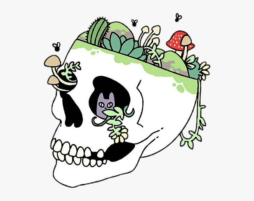 Clipart Skull Grunge - Cute Aesthetic Drawing Easy, HD Png Download, Free Download