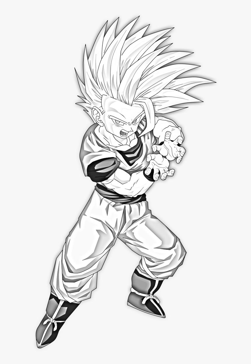 Transparent Super Saiyan Png - Drawing Anime Dragon Ball, Png Download, Free Download