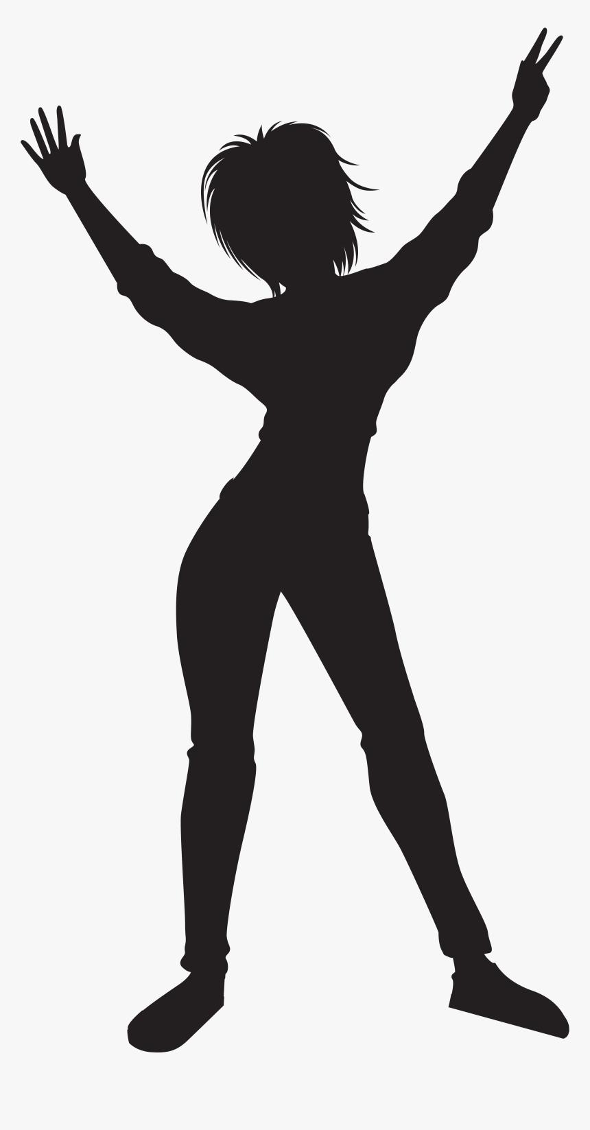 Dancing Girl Silhouette Png - Transparent Png Dancer Png, Png Download, Free Download
