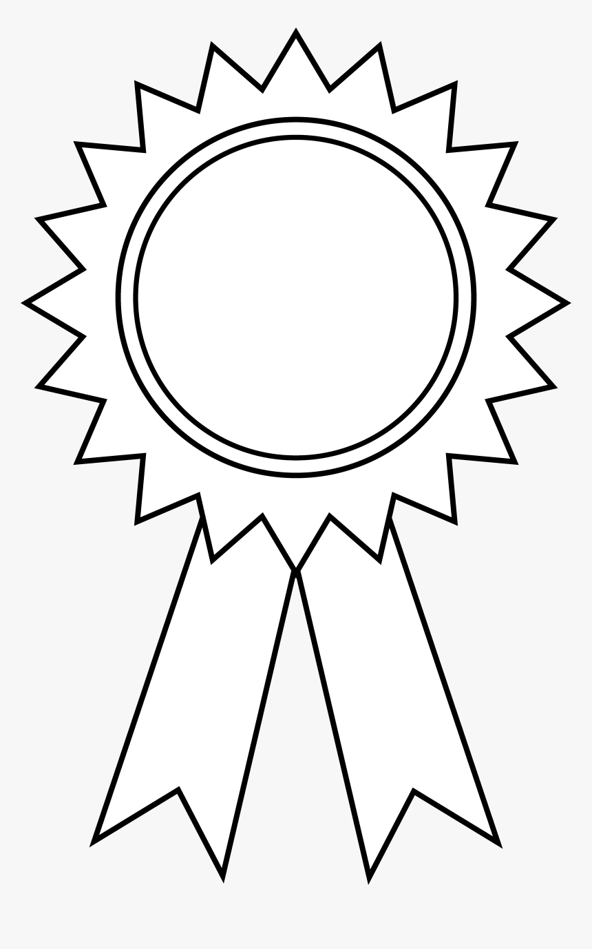 Black And White Christmas Rib - Award Ribbon Outline, HD Png Download, Free Download