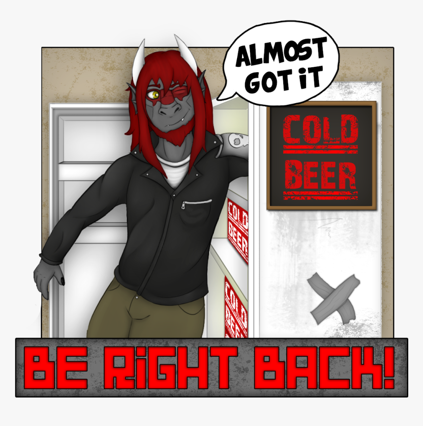 Twitch Be Right Back Screen - Cartoon, HD Png Download, Free Download