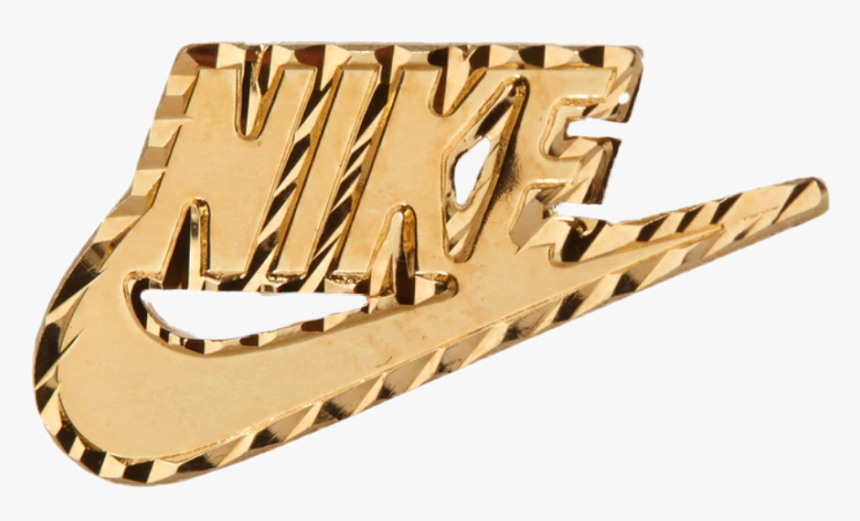 Reconocimiento Conciso cocina  nike #swoosh #justdoit #gold #jewelry #goldaesthetic - Nike Supreme  Earrings, HD Png Download - kindpng