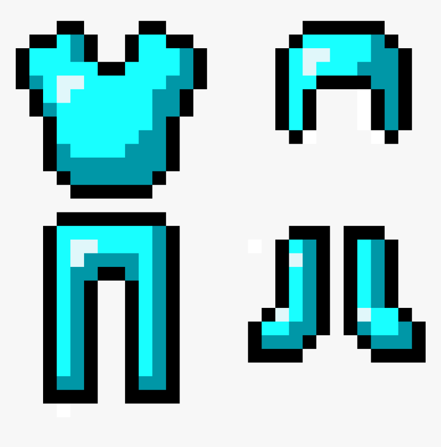 Minecraft Diamond Armor Transparent, HD Png Download , kindpng