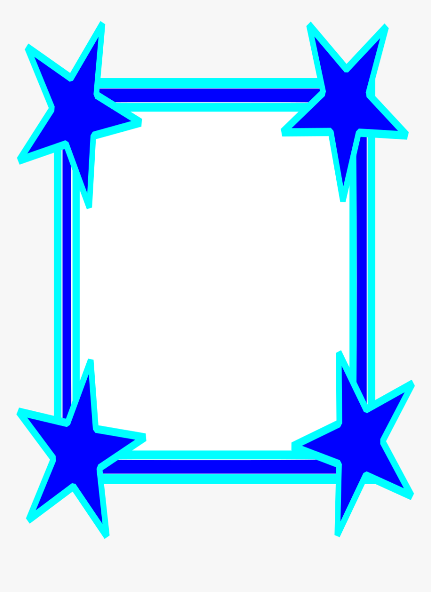 Stars Border Cool Frames/star - Blue Frame Clipart, HD Png Download, Free Download