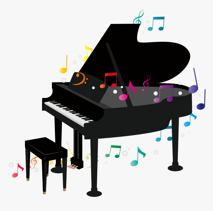 Grand Piano - Transparent Background Piano Clipart, HD Png Download, Free Download