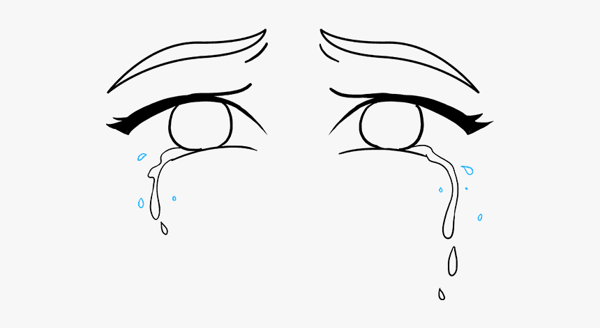 Crying Eyes Drawing Easy, HD Png Download, Free Download