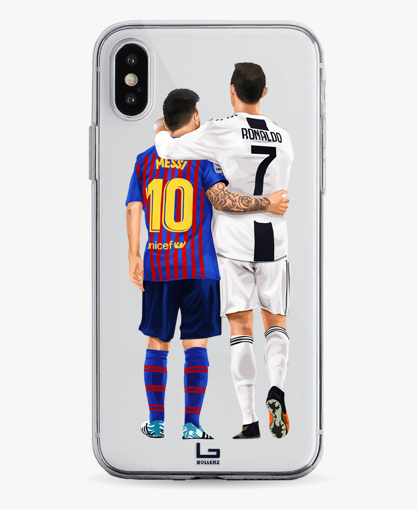 Cristiano Ronaldo And Leo Messi Wallpaper Goat Hug Hd Png