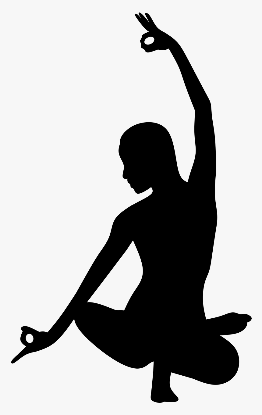 Silhouette Yoga Pose Pilates Flexible Fit Balance Yoga Pose Silhouette Hd Png Download Kindpng