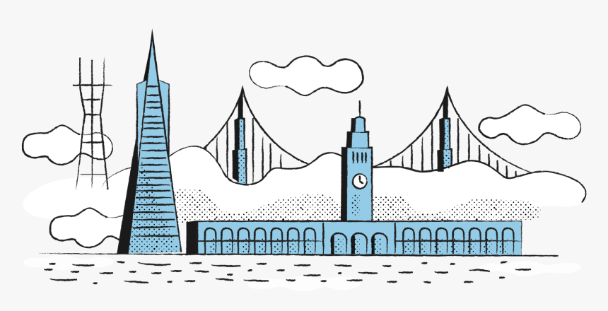 South Bend Design Is Based In San Francisco, California - Illustration, HD Png Download, Free Download