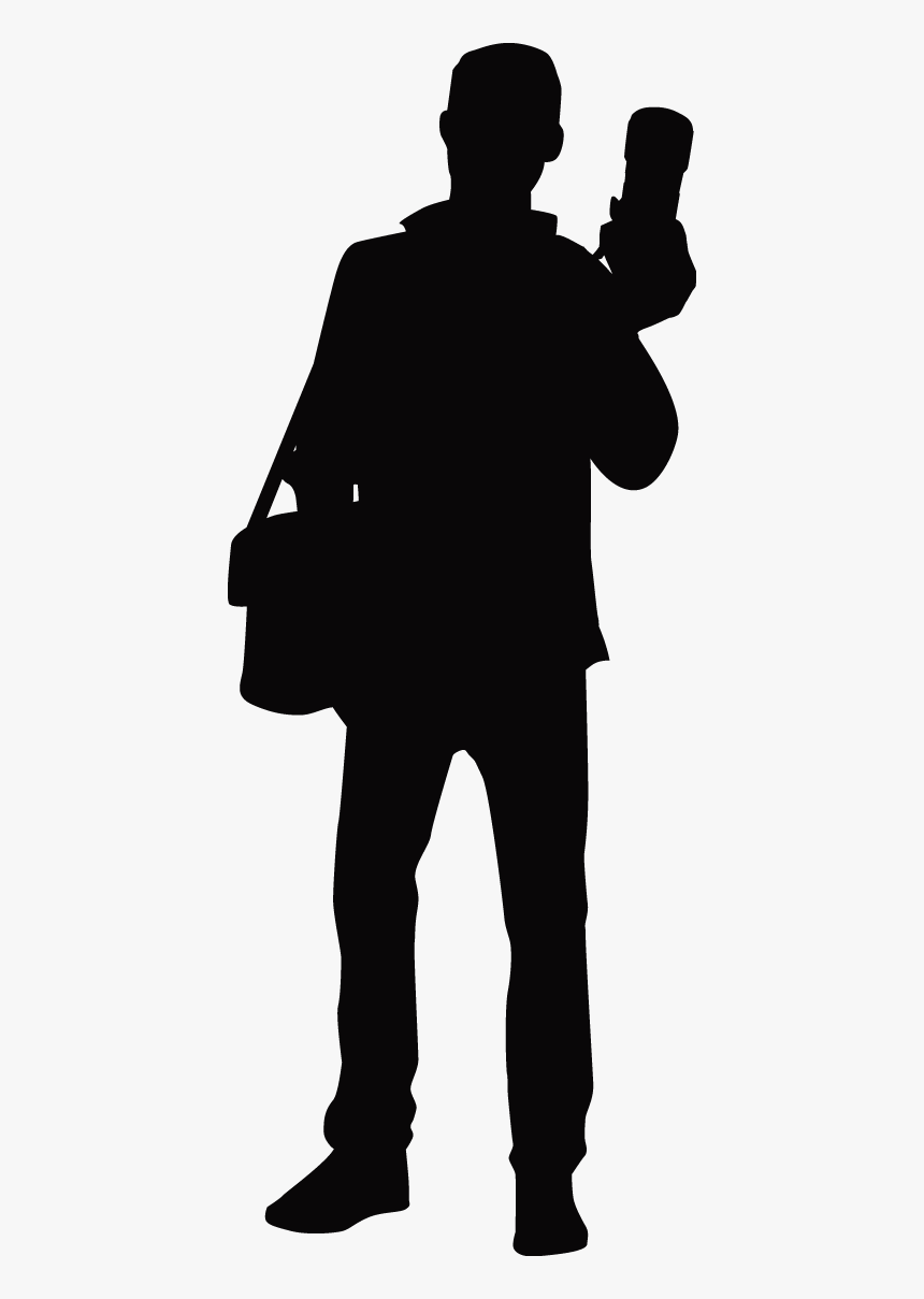 Photographer Silhouette - Silhouette, HD Png Download, Free Download