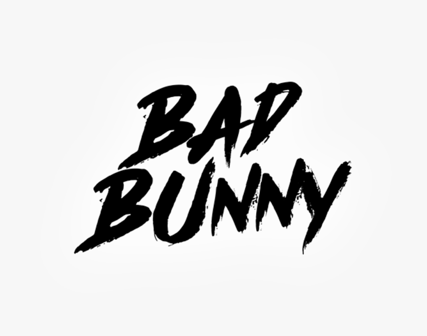 Silhouette Of Bad Bunny Png Download Calligraphy Transparent Png Kindpng