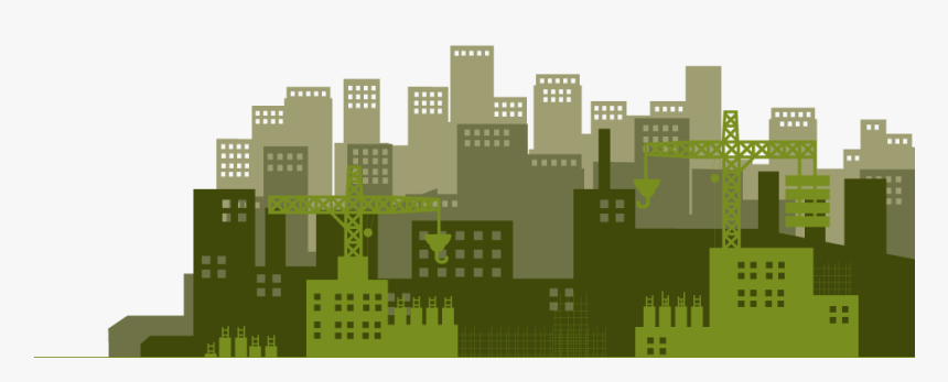 Banff Constructors Buildings Silhouette - Buildings Silhouette Png Green, Transparent Png, Free Download