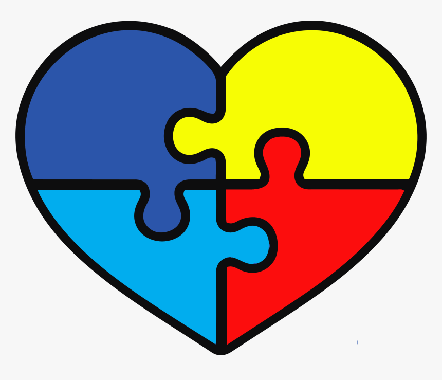 Autism Awareness Heart Svg Hd Png Download Kindpng