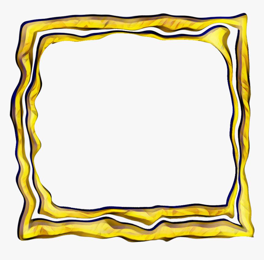 Frame Gold Polaroid Square Glitch - Square Glitch Png, Transparent Png, Free Download