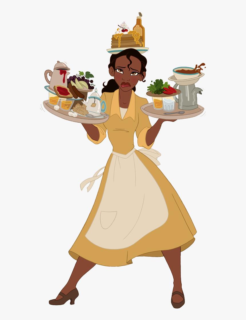Princess Tiana As Waitress , Png Download - Tiana Disney Princess, Transparent Png, Free Download