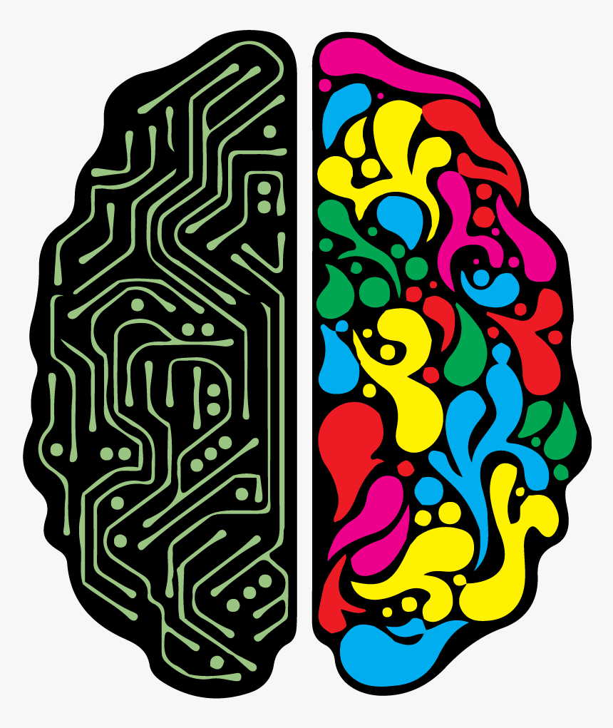 Creative Brain Png - Creative And Technical Brain, Transparent Png, Free Download