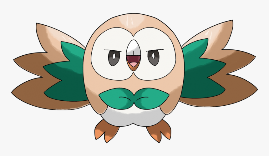 Rowlet Pokemon Png Cartoon Image Transparent Background - Rowlet No Background, Png Download, Free Download