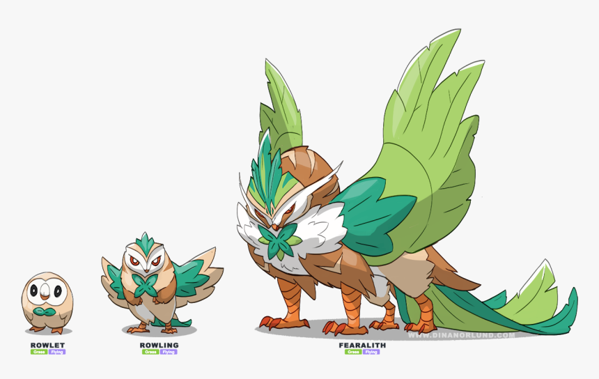 Transparent Shit Png - Evolved Form Of Rowlet, Png Download, Free Download