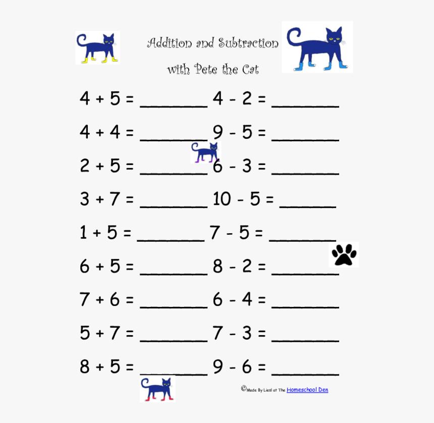 1st Grade Math Worksheets, HD Png Download - kindpng