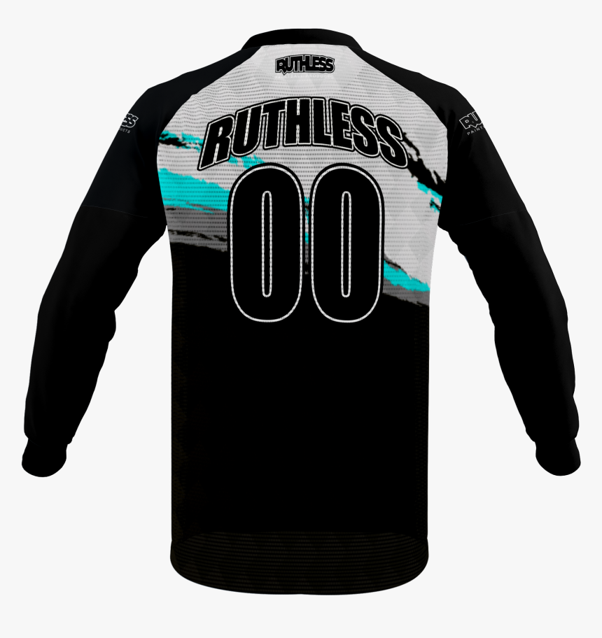 Ripped Checkers Breeze Jersey - Black And Green Paintball Jersey, HD Png Download, Free Download