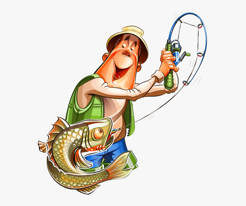 Transparent Fish Vector Png - Fisherman Cartoon Png, Png Download, Free Download
