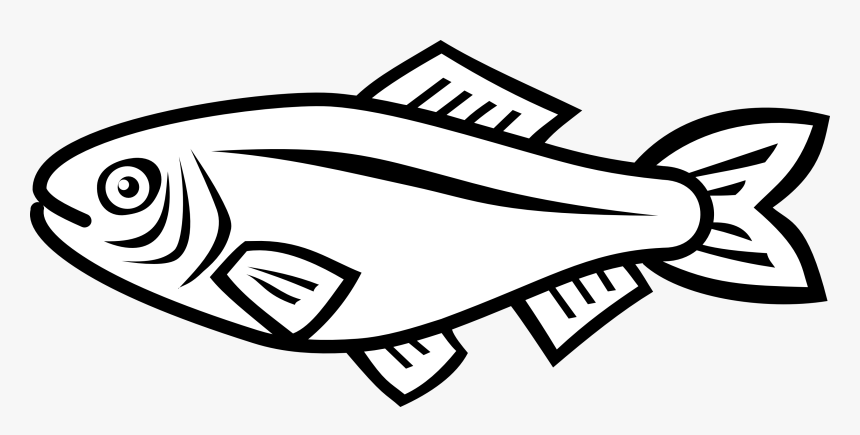 Simple Fish Png Black And White Fish Vector Transparent Png Kindpng