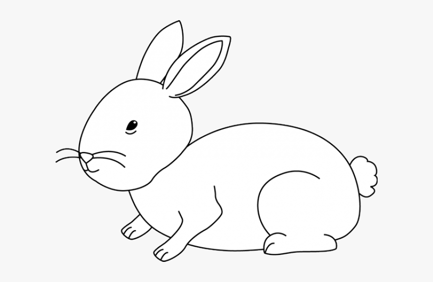 Hare Clipart Cute - Bunny Rabbits Black And White, HD Png Download, Free Download