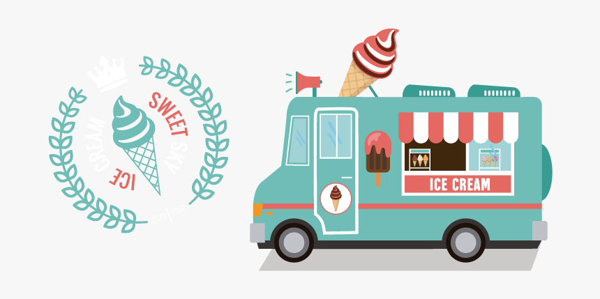 Transport,vehicle,food Truck,motor Vehicle,mode Of - Ice Cream Food Truck Logos, HD Png Download, Free Download