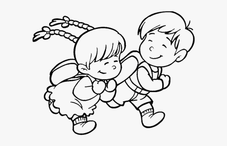 Doraemon Drawing Children S Running Children Drawing Hd Png Download Kindpng