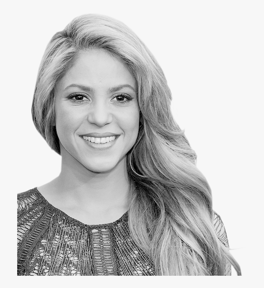 Clip Art V Variety Com - Shakira Black And White, HD Png Download, Free Download