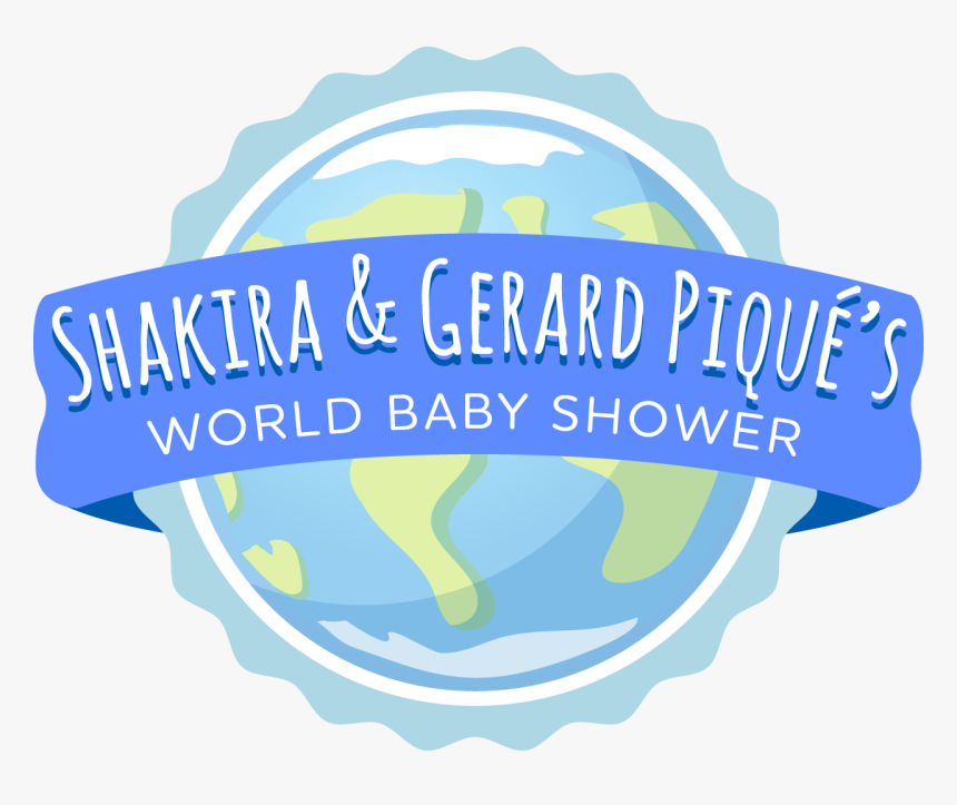 """Shakira And Gerard Piqué""""s Global Baby Shower With - Shakira Et Pique Word Baby Shower, HD Png Download, Free Download"""