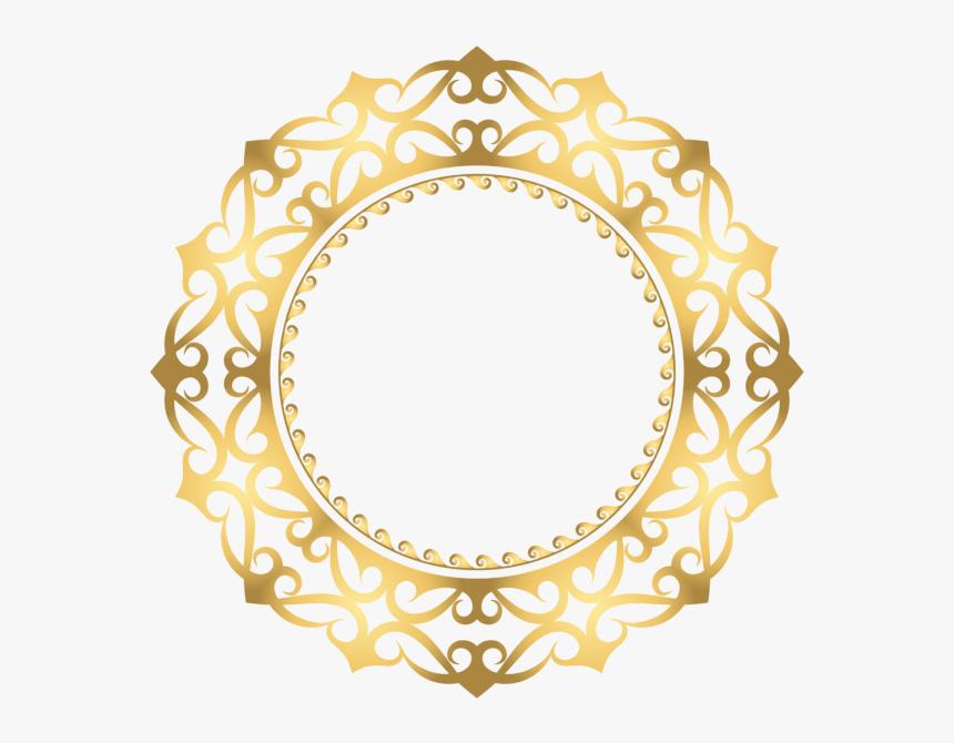 Png Clipart Circle Border Gold, Transparent Png, Free Download