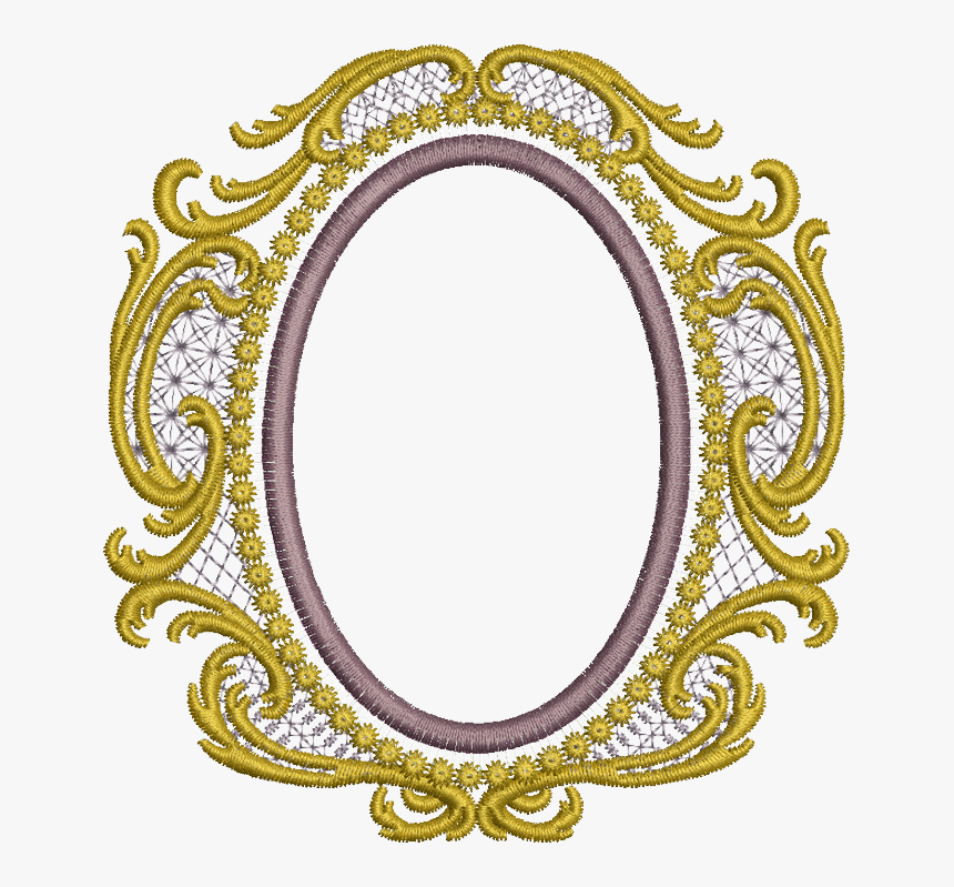 Old Gold Oval - Embroidery Frame Designs Png, Transparent Png, Free Download