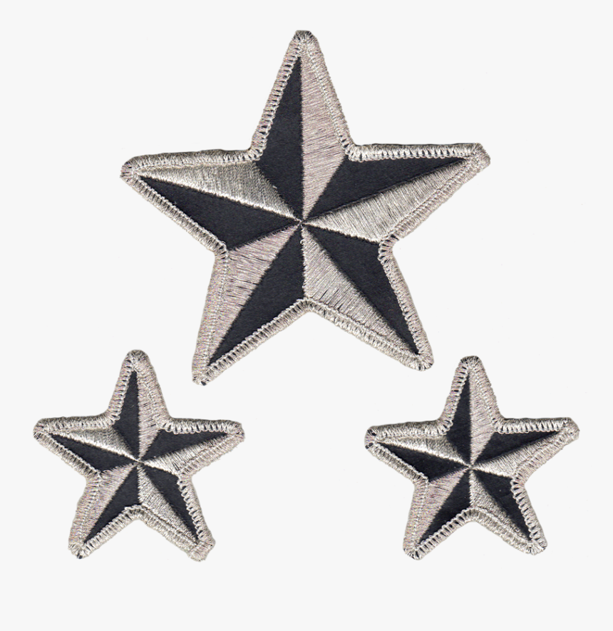 Nautical Stars Reflective Embroidered Patch - Star Patch Png, Transparent Png, Free Download
