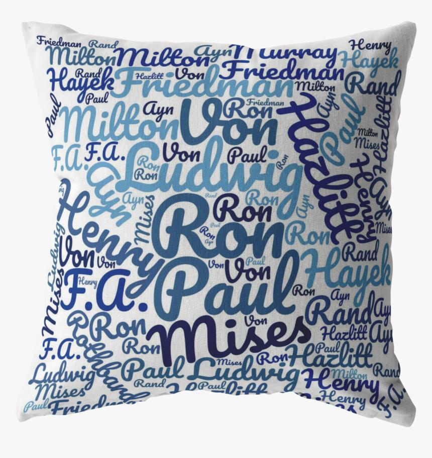 Libertarian Thinker Pillow , Png Download - Cushion, Transparent Png, Free Download