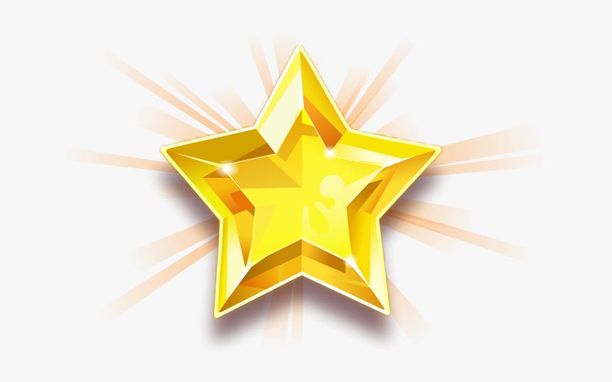 Star Golden Shining Transparent - Emblem, HD Png Download, Free Download