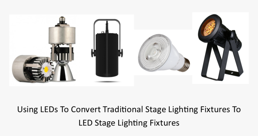 Using Led Lamps To Convert Traditional Stage Lighting - Satellite, HD Png Download, Free Download