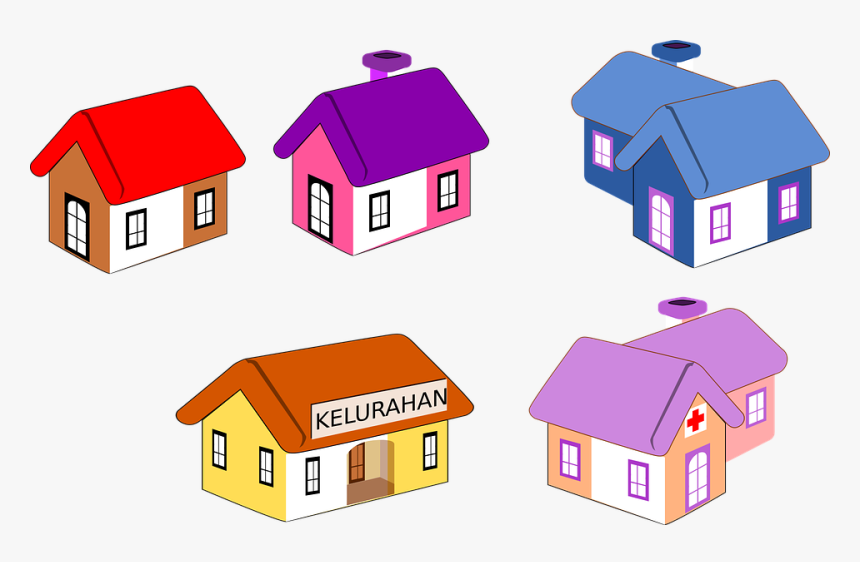 Icon, House, House Icon, Building, Estate, Home, Symbol - Kelurahan Vector, HD Png Download, Free Download