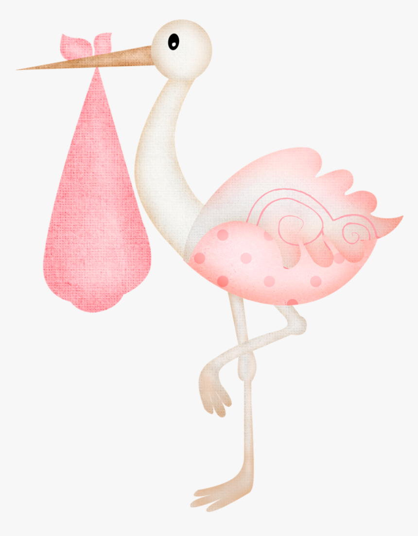 Stork Baby Shower Girl Baby Shower Girl Clipart Hd Png Download Kindpng