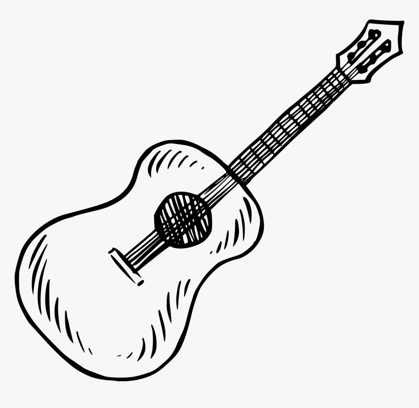 Guitarra Dibujo Png, Transparent Png, Free Download