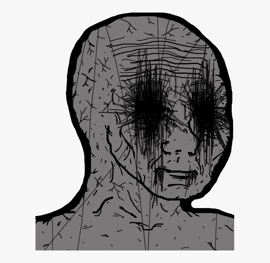 Images Wojaks Grey Wojak Black Eyes Wojak Black Eyes Hd Png