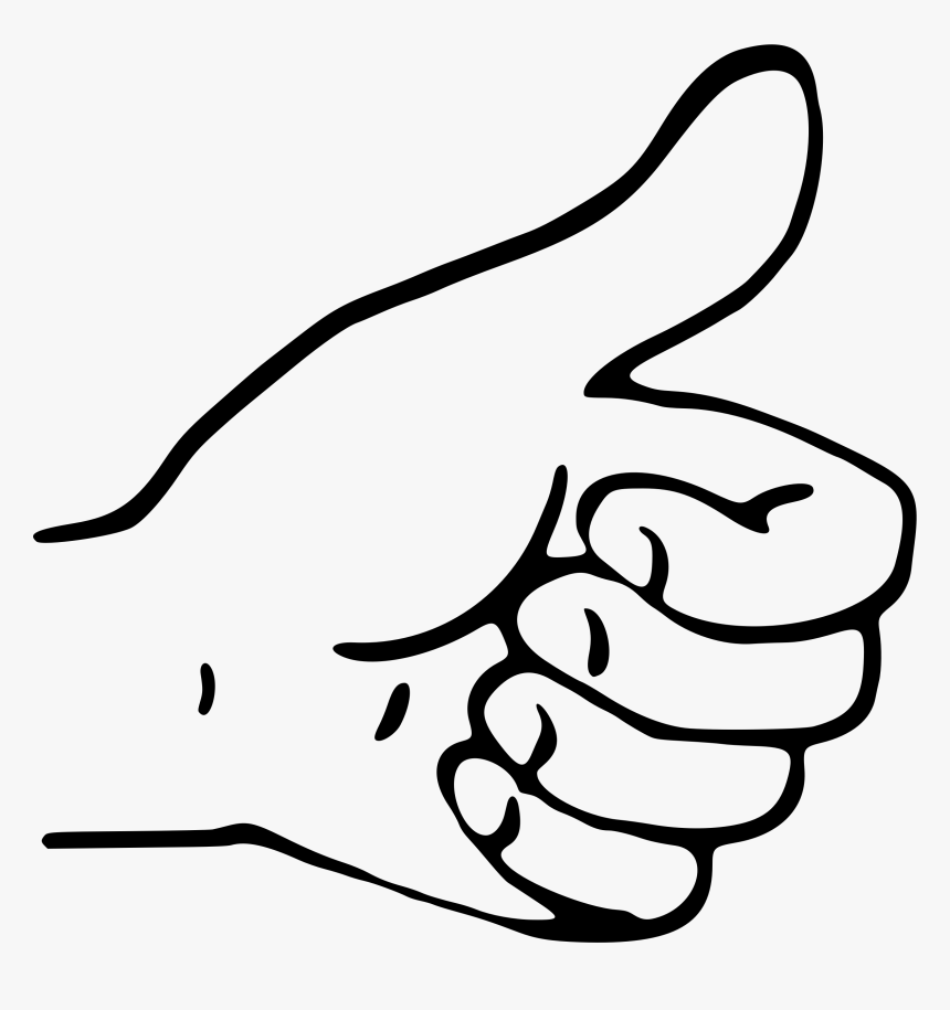 Thumbs Up Clip Art Drawing - Thumbs Up Hand Clipart, HD Png Download, Free Download