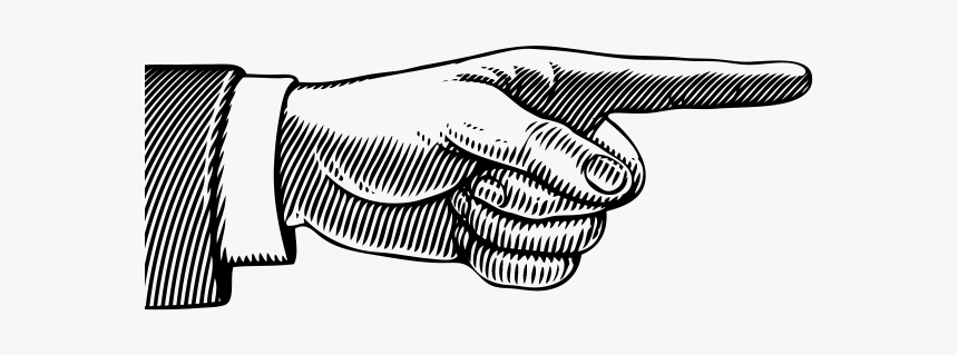 Pointing Finger Left And Right Hand, HD Png Download - kindpng