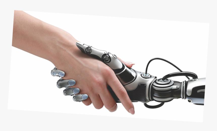 Human Robot Handshake - Robot And Human Hand Png, Transparent Png, Free Download