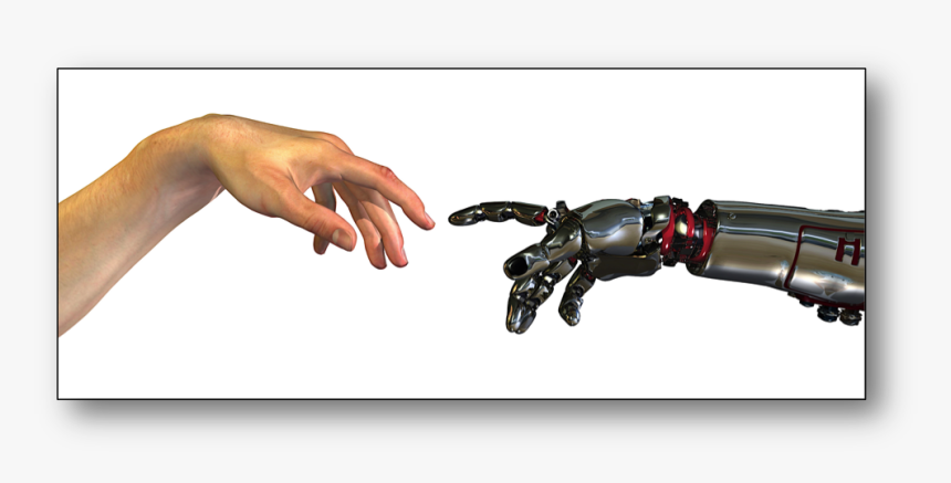 Robot Hand Monkey Hand Reaching , Png Download - Human And Robot Hands, Transparent Png, Free Download