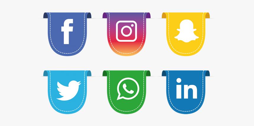 Clip Art Cute Social Media Icons - Facebook Instagram Logo Png, Transparent Png, Free Download